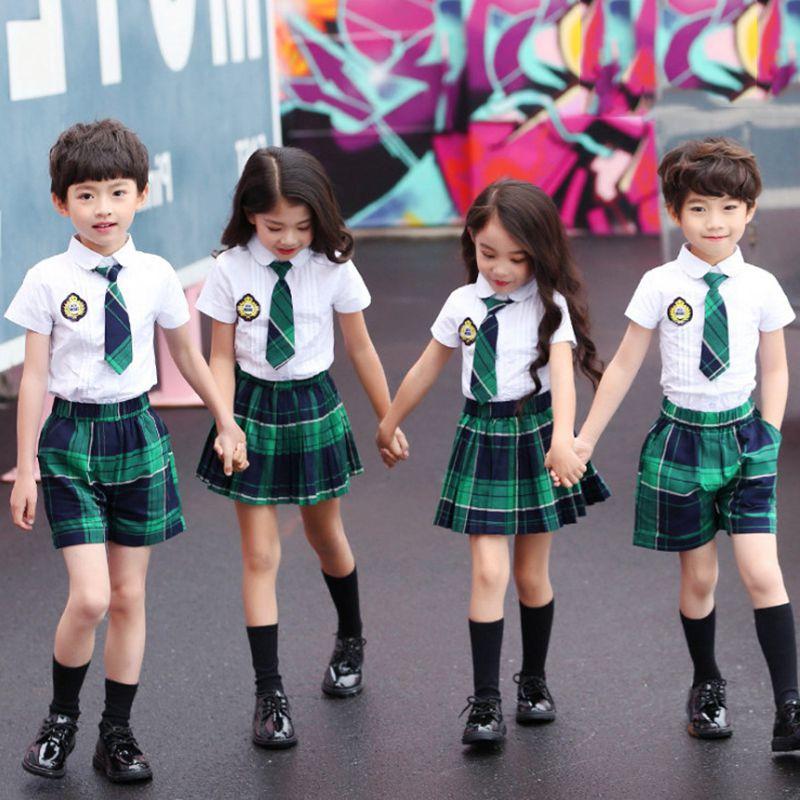 六一儿童节演出服男女童幼儿园套装合唱舞蹈服校服裙表演服主持人