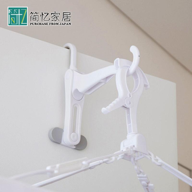 日本Aisen 室内晾衣架挂钩 折叠挂钩 门后免钉挂架旅行便携挂衣钩
