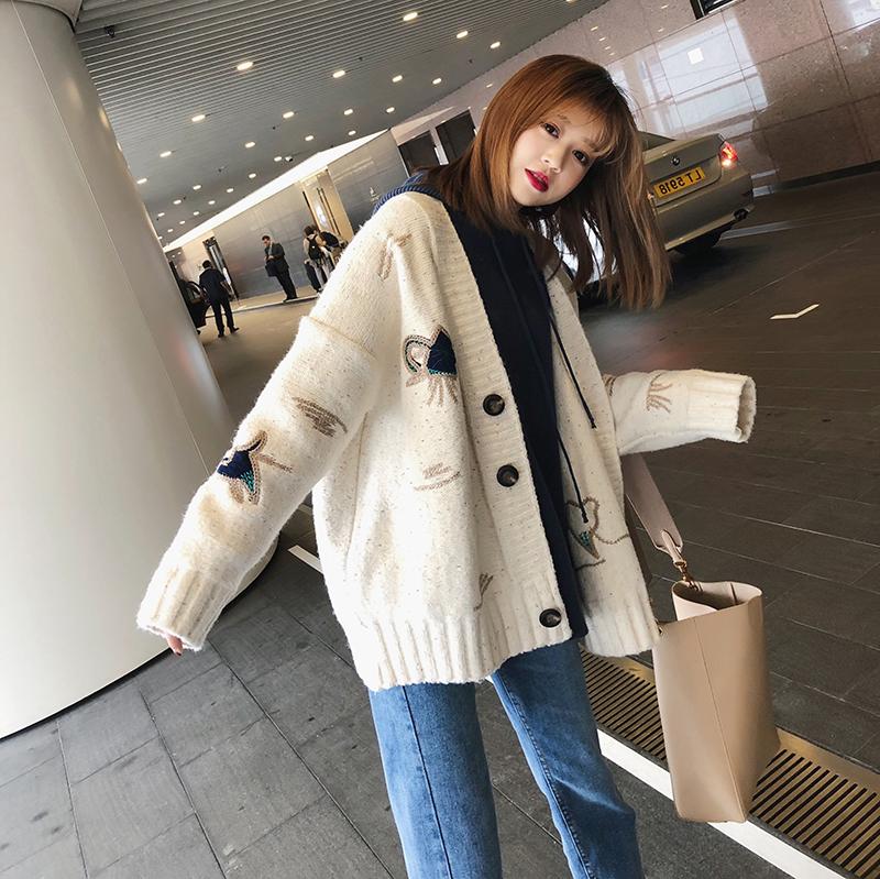 New Korean chic sweater coat in spring 2018