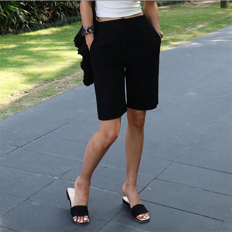 Pant womens summer slim casual shorts Korean straight suit middle pants Korean Pant