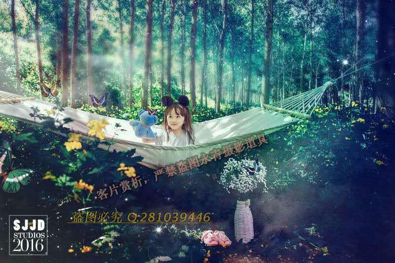 影楼儿童拍照道具儿童外景摄影吊床道具唯美外景拍照吊床主题道具