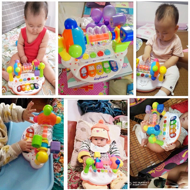 婴儿摇铃3-6-8-12个月7小孩男女宝宝益智力带音乐玩具0-1-2岁礼物