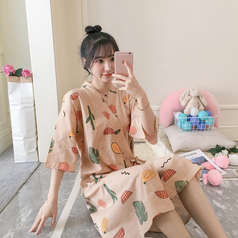 【温馨】2020夏季新品 纯棉和服袍-8352#M L XL 控价49元                                             去淘宝购买