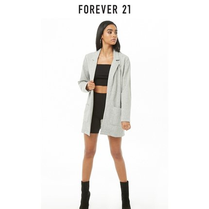 Forever21 LonglineOpenFront夹克女