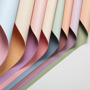 纸材料手工包花纸 纸防水双色欧雅纸花店花束花艺包装 尚萱鲜花包装
