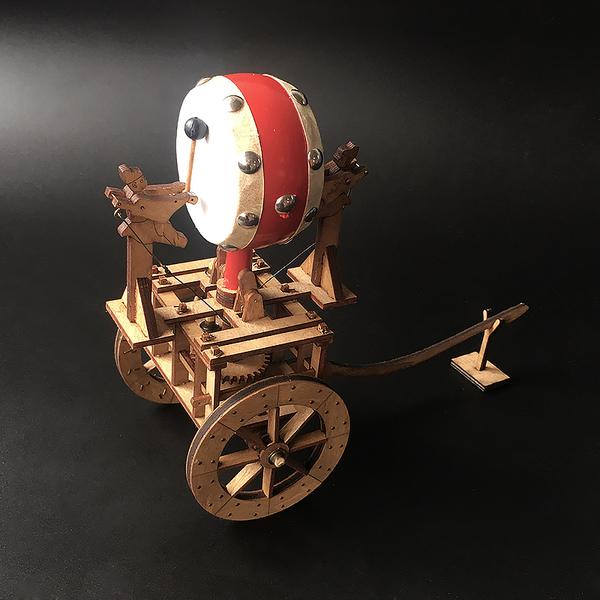 记里鼓车中国古代计程车模型,100元左右国风创意礼物