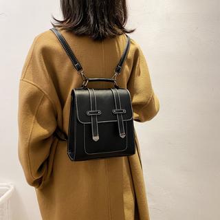 女生包包2020新款韩版ins洋气高级双肩包港风古着简约斜挎小背包