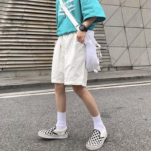 短褲女夏季2020新款韓版ins黑色百搭五分褲情侶寬鬆闊腿休閒褲潮