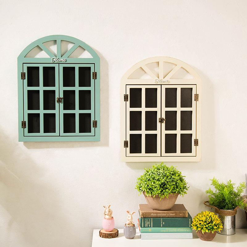 in新款翻旧事窗户小黑板幼儿园墙面个性软装饰品奶咖店创意壁式留