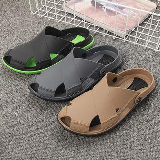 进口越南温突包头凉鞋男天然橡胶乳胶防滑两用鞋凉拖鞋沙滩鞋软底