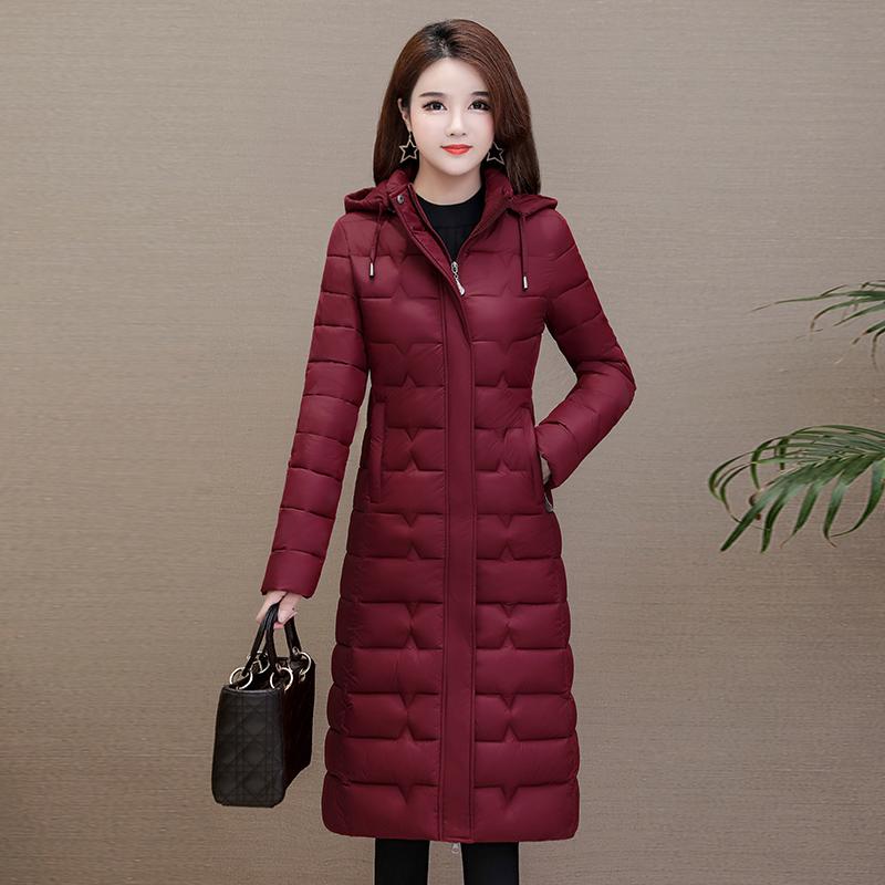 反季特卖羽绒棉服女中长款长款修身显瘦长过膝轻薄棉衣冬季外套
