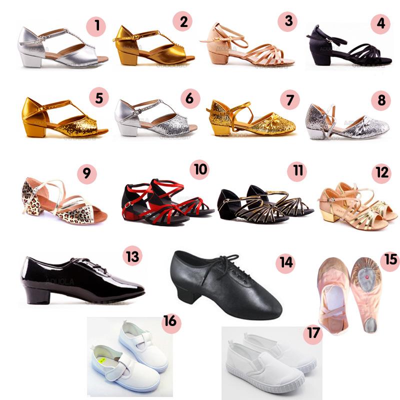 儿童拉丁舞比赛平跟鞋缎面帆布猫爪鞋男童女童舞蹈鞋芭蕾中国舞
