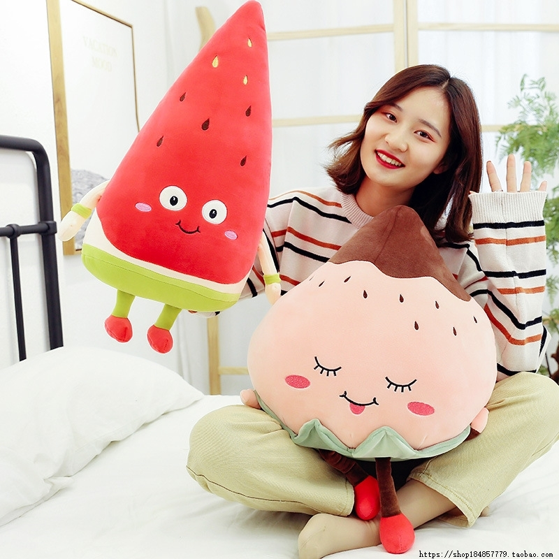 Imitation fruit plush toy watermelon strawberry pillow
