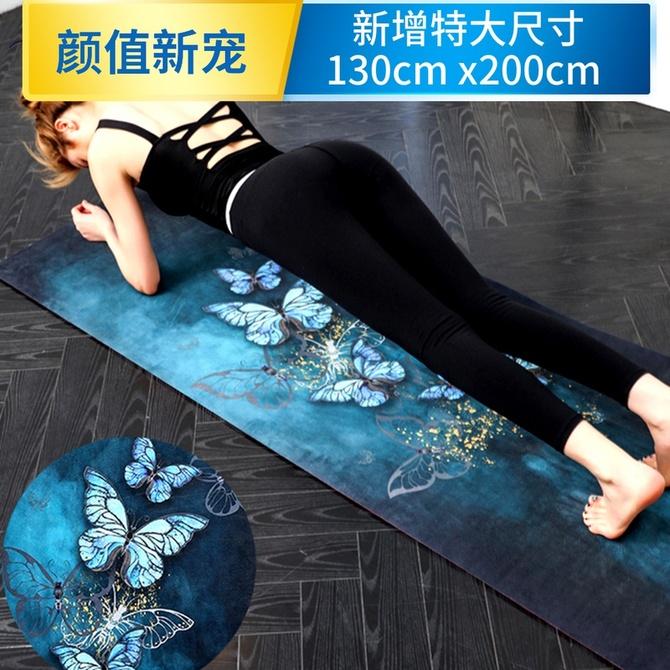 瑜伽垫加宽加长防滑印花瑜珈地垫 梵伽利橡胶麂皮绒初学瑜伽垫加厚