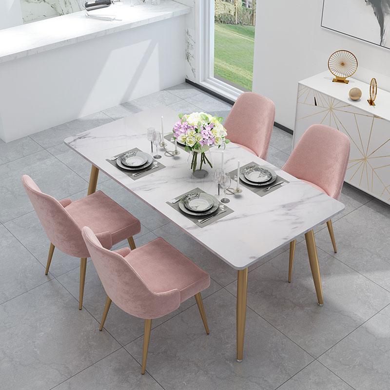 北欧シンプルなins大理石の食卓、家庭用テーブル、現代の小さな家の形を組み合わせた長方形のテーブルです。