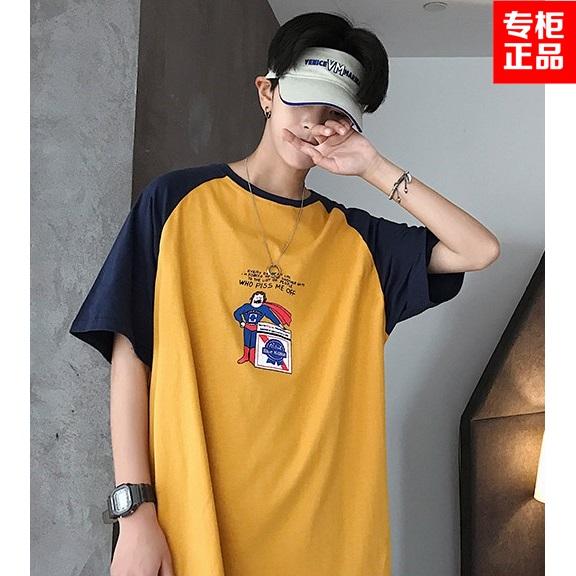 JustLong臻杰龙夏季短袖男士打底男装潮纯棉常规韩版青春流行T恤