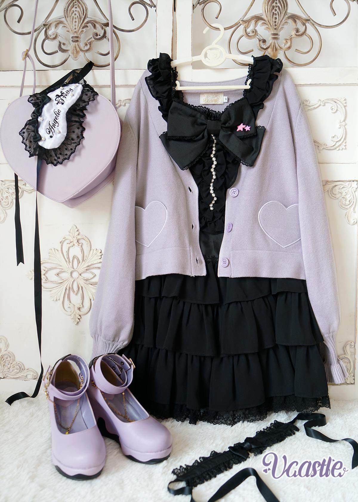 【Vcastle】【新春打折】原创-可可洛- 爱心lolita毛衣开衫外套