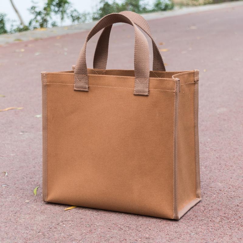 帆布袋大容量大号学生拎书补习班手提袋手拎耐用超市购物袋环保袋