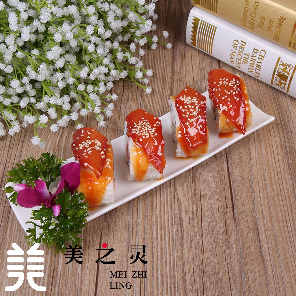 新品 日韩料理定做 仿真鳗鱼寿司食物食品模型 展示样品假菜