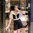 小个子显高法式赫本风高腰连体裤女2020夏季新款小香风连衣裤短裤