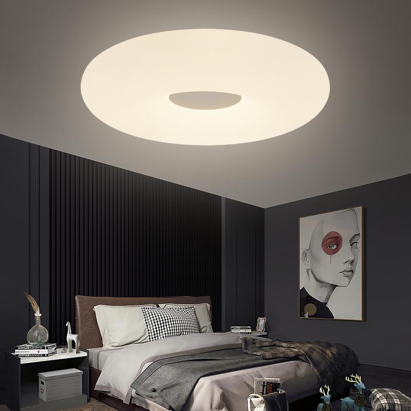 卧室吸顶灯简约现代客厅灯LED家用房间灯圆形餐厅灯温馨创意新款