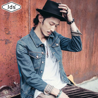 Autumn new denim jacket male Korean version of the trend spring and autumn 2021 new tooling jacket men's spring jacket