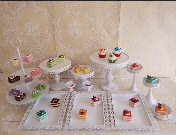 Новые товары железо торт блюдо печенье блюдо чашка лоток конфеты фрукты полки 12 костюм десерт качели