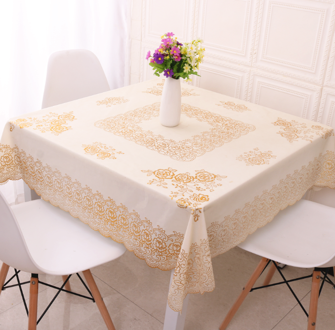 Square tablecloth, eight immortals table, PVC waterproof, wash free and oil proof tablecloth, European style square table mahjong cover