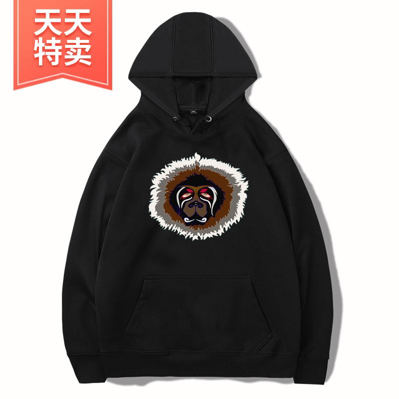 藏獒秋冬秋冬加厚卫衣休闲时尚百搭藏式服装民族风