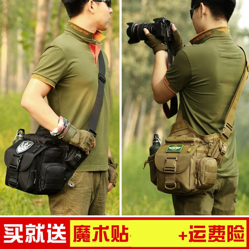 守护者单肩斜挎包男路亚户外帆布战术多功能大鞍袋单反相机摄影包