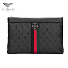Zhuofan Armani True Leather New Envelope Package 2019 Men's Leisure Youth Fashion Large Capacity Handbag