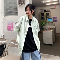 短袖衬衫女2021年夏季新款韩版学生宽松百搭日系复古港味衬衣外穿