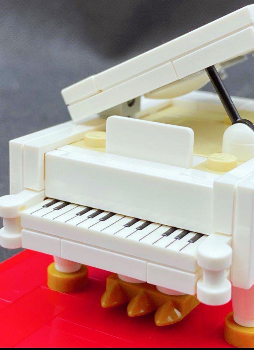乐高小钢琴21323迷你版moc钢琴