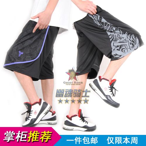 篮球短裤街球裤夏季过膝嘻哈短裤男运动短裤黑色多色短裤大码宽松