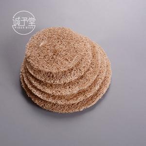 日式丝瓜络养壶垫 紫砂壶壶托壶承吸水杯垫茶道零配件藤编隔热垫