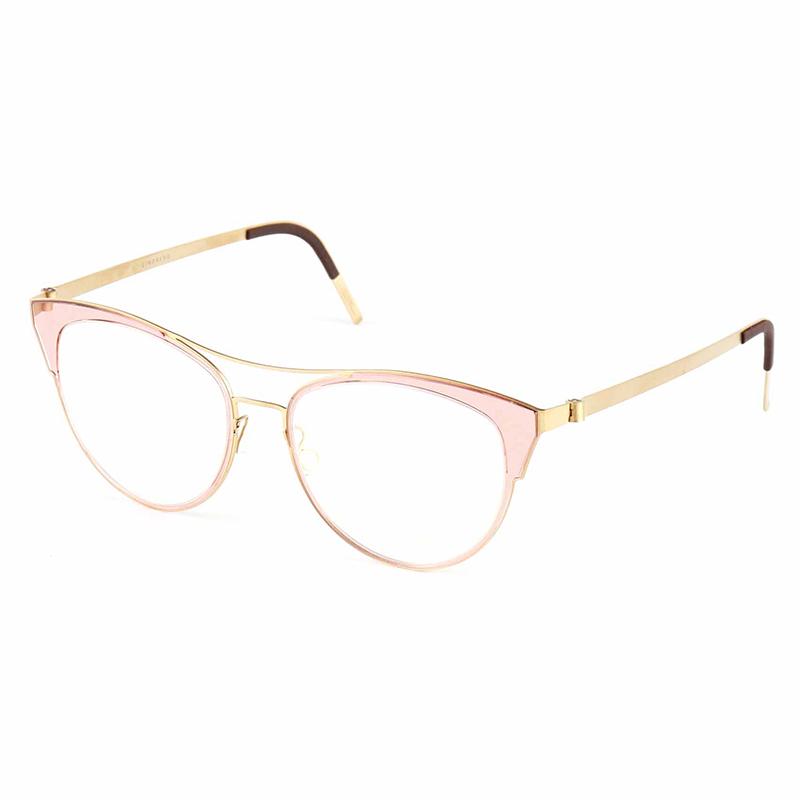 亮点 LINDBERG眼镜框男猫眼双梁近视9729 9732林德伯格眼镜架女