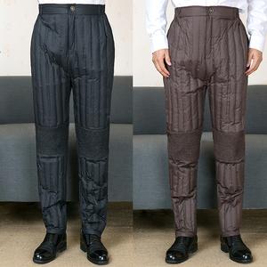 男装羽绒裤中年男士内穿大码轻薄羽绒内胆裤老年人爸爸护膝鸭绒裤