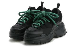 黑色老爹鞋運動鞋女夏季新款透氣春秋百搭顯瘦厚底內增高鞋8CM潮