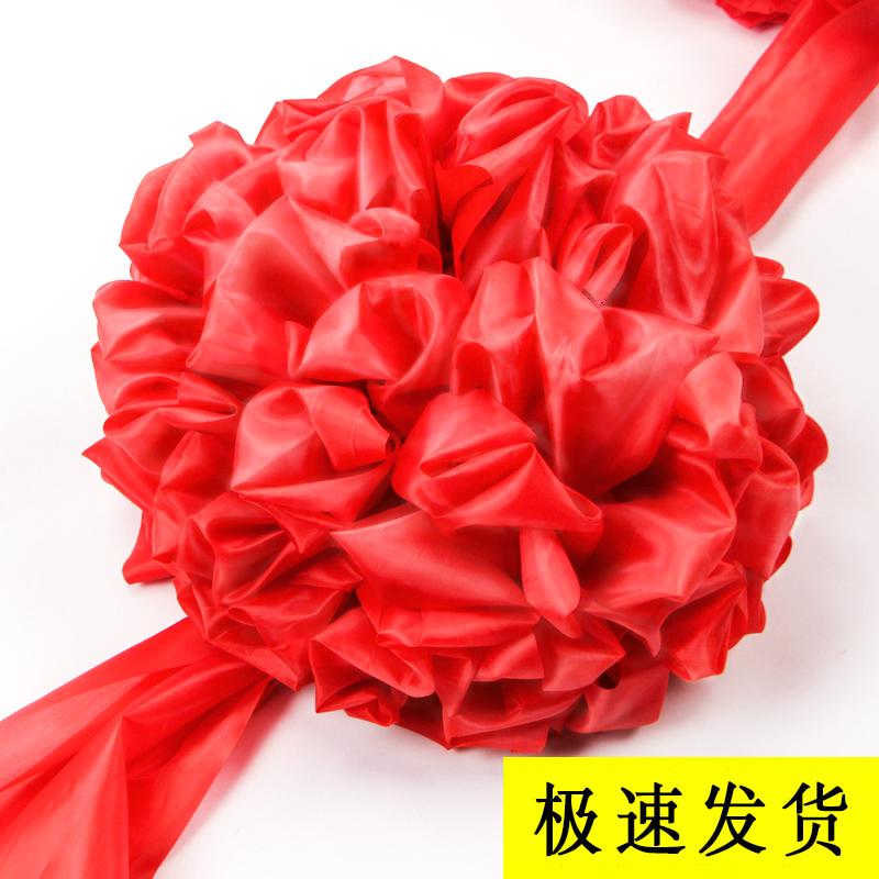 大红花球 汽车新车交车大红花 红绸布结婚红绣球剪彩花球开业庆典