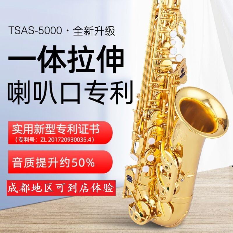 萨克斯管乐器大人演奏初学考级5000TSAS调中音萨克斯风管e泰山降