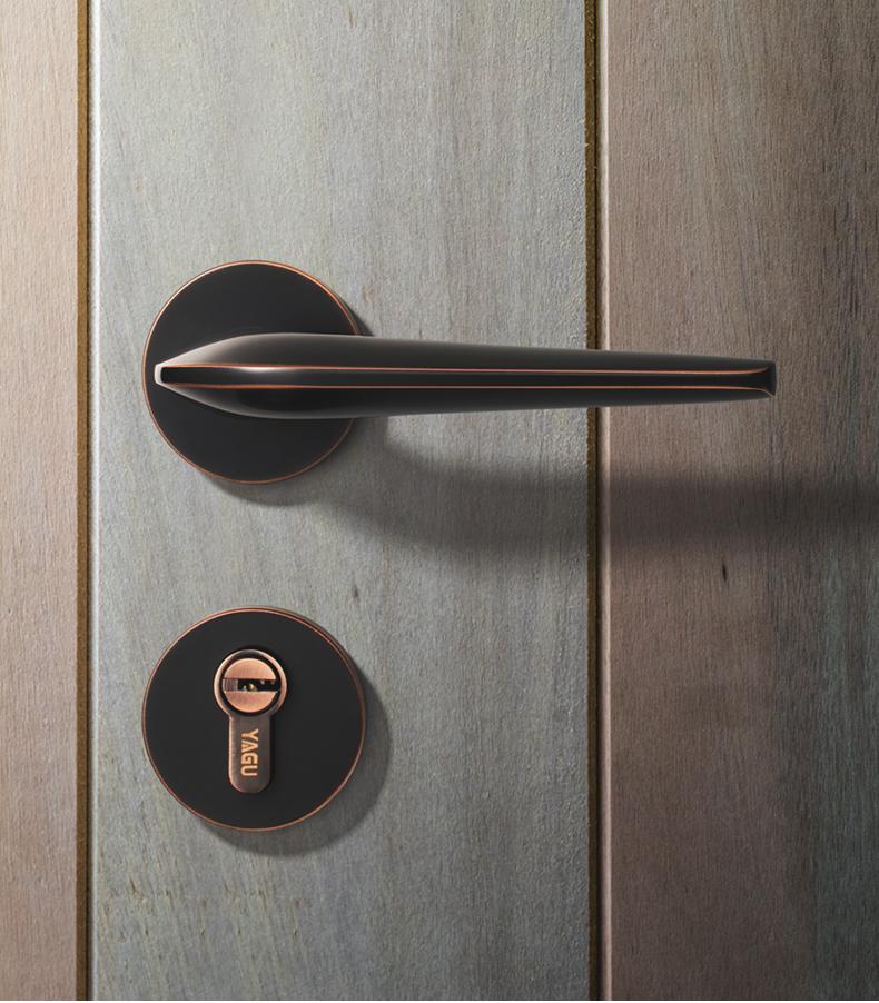 2018新款亚固门锁-卧室房门锁-实木门分体款