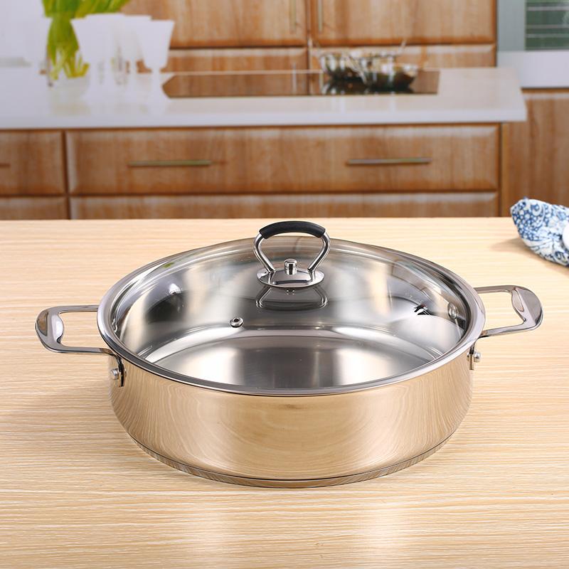 加厚焖锅专用锅不锈钢焖锅汤锅火锅海鲜锅三汁焖锅锅电磁炉适用