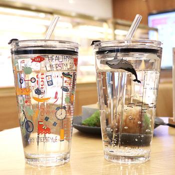 网红可爱儿童女学生创意ins玻璃杯