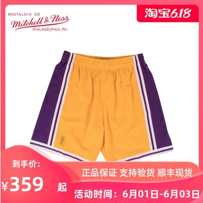 Mitchell Ness复古运动篮球裤SW球迷NBA湖人队MN球裤詹姆斯科比