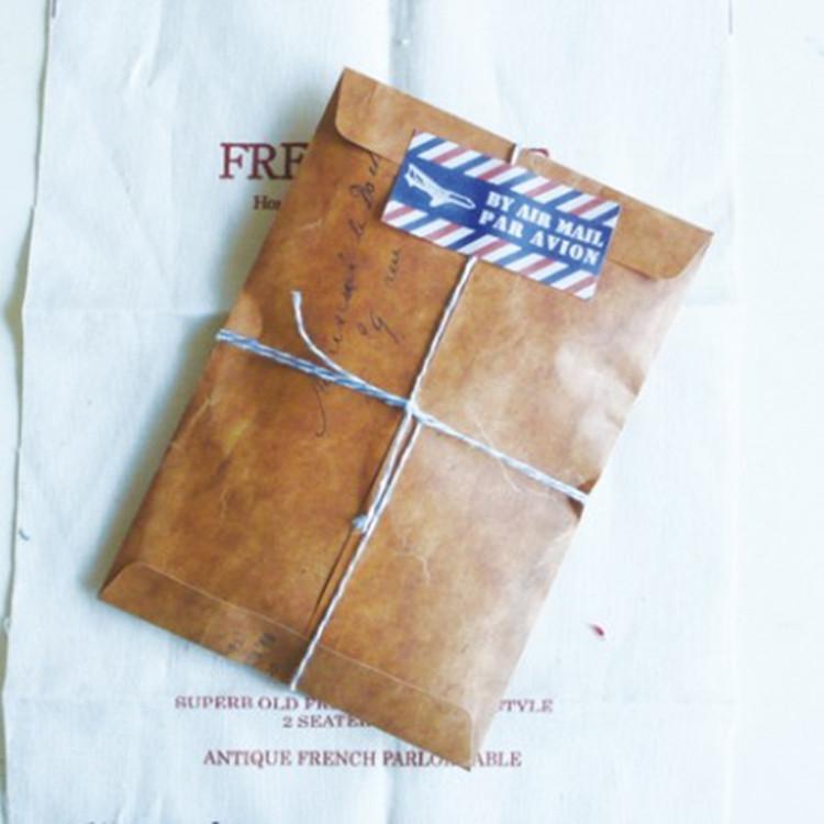 Zakka крафт конверт ретро сделать старый пожар краски бумажный мешок упакована в подарочный пакет мешок открытка чистый черный мешок