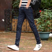 春夏季新款男式牛仔裤韩版弹力修身青年小脚裤休闲时尚潮流男长裤