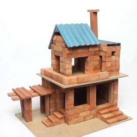 陶瓷仿真建筑手工拼搭制作DIY小屋别墅盖造房子模型图片