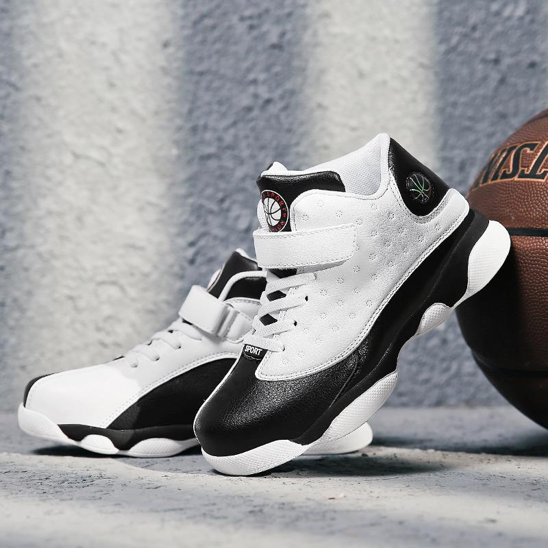 男童棉鞋8儿童篮球运动鞋9大童高帮10秋冬11男孩黑白色小学生12岁