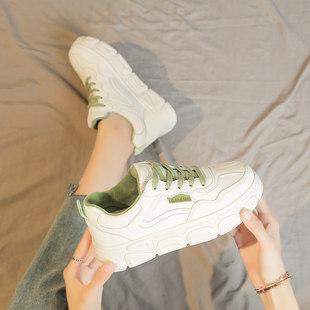 小白鞋子女鞋2020年春季新款百搭学生厚底白鞋老爹帆布鞋2019春秋