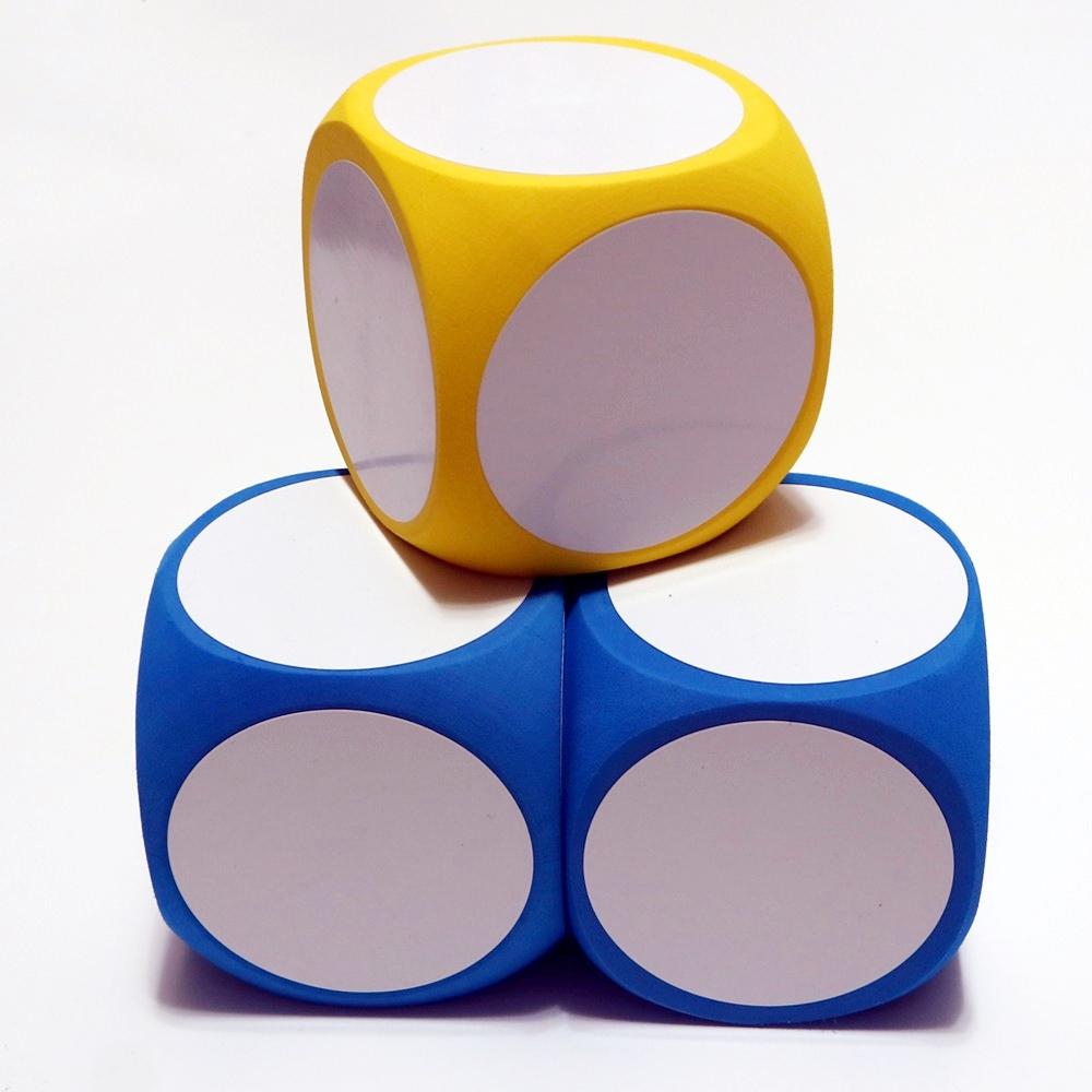 可擦写白板骰子方块dry erase blocks课堂教具